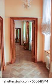 Rooms for Greek gallery.Rooms for Greek gallery. Gatchina, Russia - 3 December, 2016. Visit the Museum Reserve Gatchina Palace.