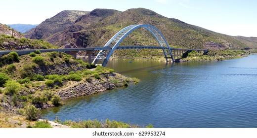 Roosevelt Lake Bridge - Theodore Roosevelt Lake, Arizona