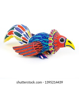 Rooster chicken alebrije wood carving sculpture mexican folk art decor