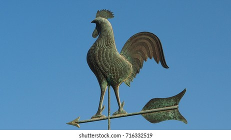 Rooster  weathervane on the roof