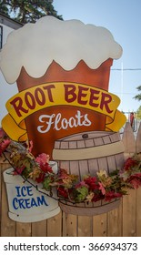 root beer floats sign