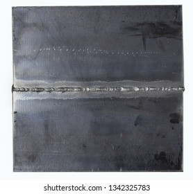 Root pass of butted weld coupon in vertical upwards progression nominated as 3G position in ASME Code or PF position in ISO/EN standard. It was completed by arc welding.