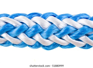 rope, cable close up isolated over white