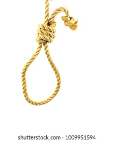 Rope for the gallows on a white background. Isolated.