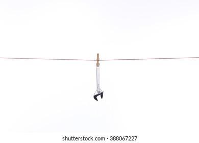 rope hanging spanner