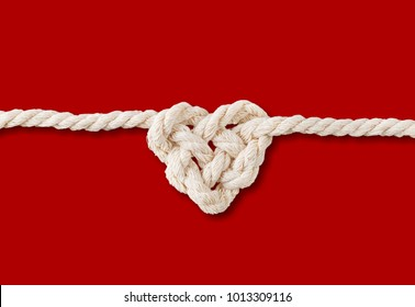 Rope in heart shape knot
