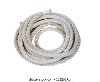 A rope isolated on a white background
