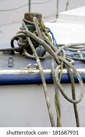 Rope knot for boat mooring