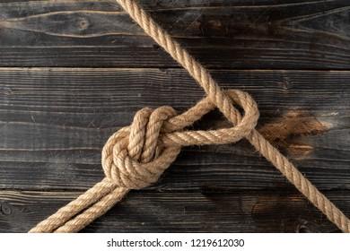 Rope loop. Rope knot.