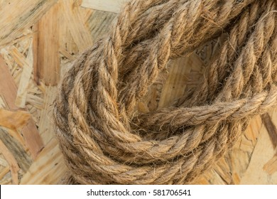 rope made from flax loop, abstract background, closeup