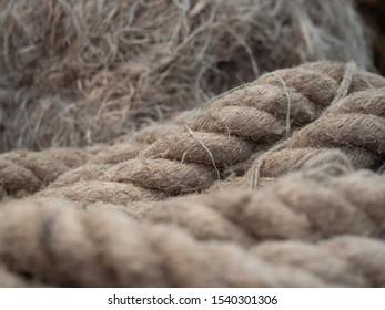 rope made of natural material close-up.