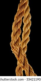 rope on a black background