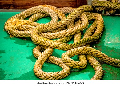 rope on a pier floor