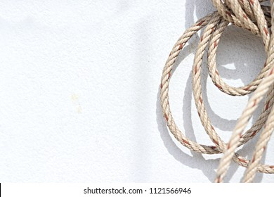 Rope on a white background.selective focus.