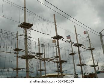 rope park outdoor grey sky