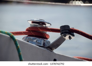 rope of a sailing boat