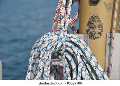 Rope of a sailingboat