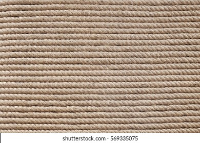 Rope stacking in horizontal pattern, texture abstract background