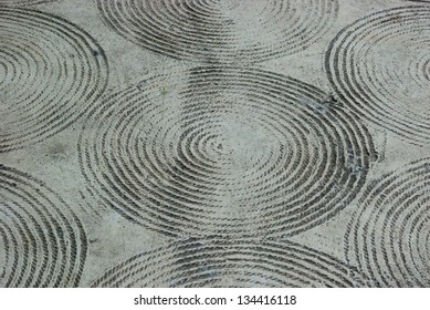 Rope stripe on concrete floor texture background