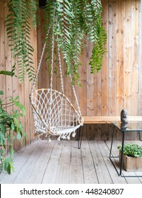 rope swing chair in relax zone garden