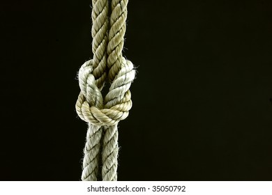 a rope tied into a Reef Knot