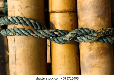 Rope tied up to a knot