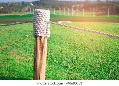 Rope tied with stumps