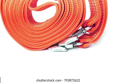 rope tow rope for cars on a white background