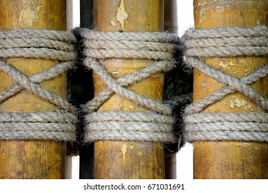 The rope wire rope used to tie bamboo beautifully.