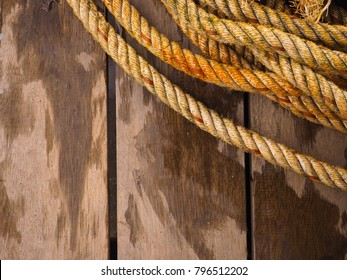Rope with wooden background