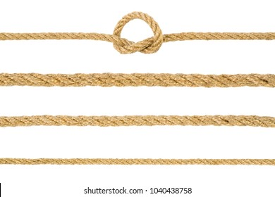 Ropes collection isolated on white background