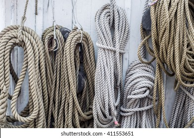 Ropes and details sailboat