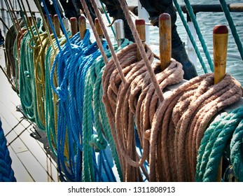 Ropes on a sailer