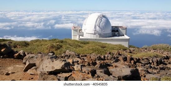 Roque de los Muchachos Observatory in La Palma (Canary islands spain)