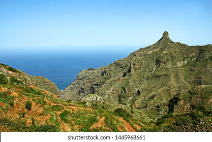 Roque en Taganana, Landscapes of Taganana in Tenerife, Spain, Canary Islands,