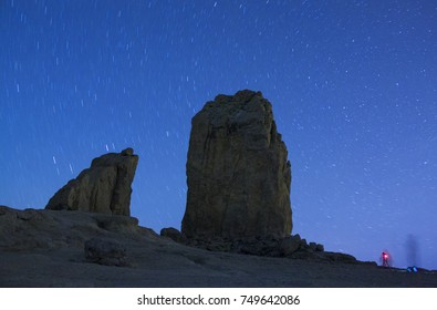 Roque Nublo under the stars