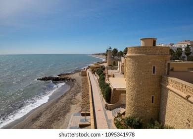 Roquetas del Mar castle de Santa Ana coast of Almería, Andalucía Spain