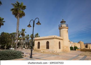 Roquetas del Mar lighthouse Costa de Almería, Andalucía Spain