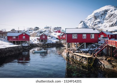 Rorbu is a Norwegian traditional type of seasonal house used by fishermen, normally located in a fishing village. The buildings are built on land, but with the one end on poles in the water, allowing
