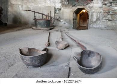 ROROS, TRONDELAG COUNTY / NORWAY - SEPTEMBER 08 2020: Roros Museum Smelthytta. Old copper smelting plant