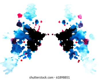 Rorschach test: colorful symmetric painting
