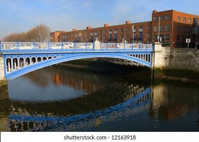 Rory O'More Bridge in Dublin, Ireland.