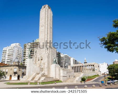 ROSARIO, ARGENTINA - JANUARY 3, 2015: National Flag Memorial of Argentina on January 3, 2015 in Rosario city, Argentina