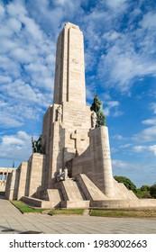 ROSARIO, ARGENTINA - MARCH 12, 2021: National Flag Monument. located at Rosario city, Argentina. Monumento a la Bandera.