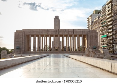 ROSARIO, ARGENTINA - MARCH 12, 2021: National Flag Monument located at Rosario city, Argentina. Monumento a la Bandera. Main tower.