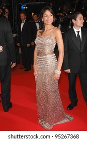 """Rosario Dawson at screening for """"Death Proof"""" at the 60th Annual International Film Festival de Cannes. May 22, 2007  Cannes, France.  2007 Paul Smith / Featureflash"""