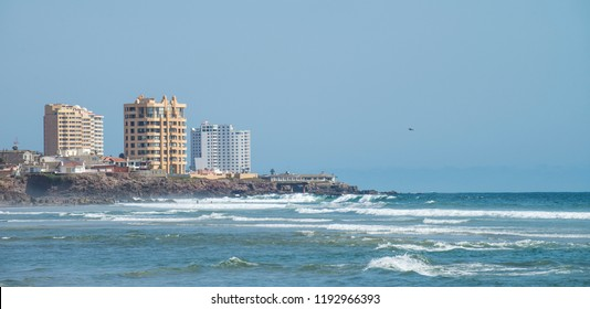 Rosarito, Baja California/Mexico- Ago 01 2016: Summer vacations at the beach.