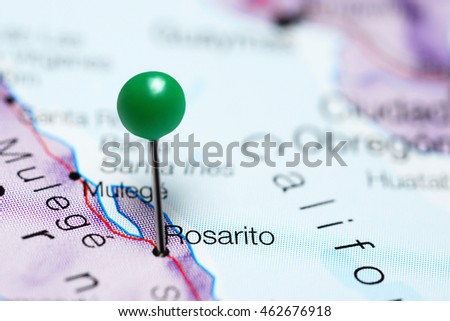 Rosarito Pinned On Map Mexico Stock Photo Edit Now 462676918