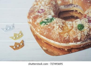 roscon de reyes, spanish three kings cake