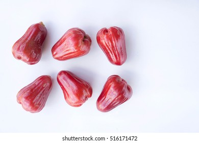 rose apple , Thailand apple fruit flavors of sweet red gloss.  rose apple on background